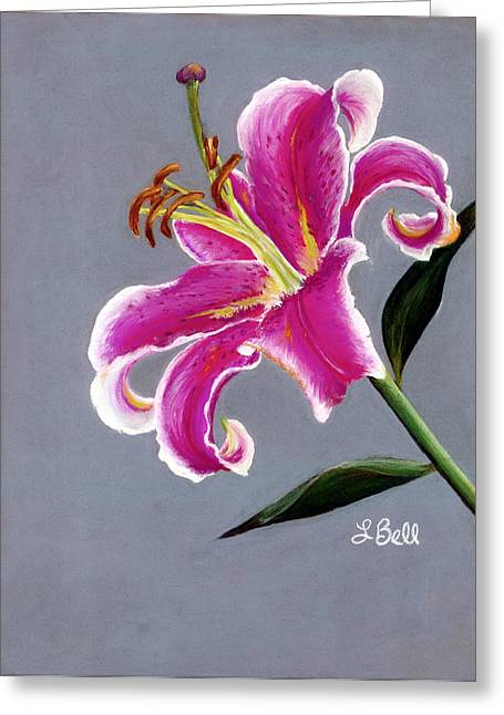 Stargazer Lily Greeting Cards - Stargazer Greeting Card by Laura Bell