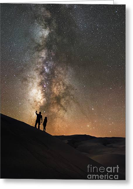 Stargazers  Greeting Card by Michael Ver Sprill