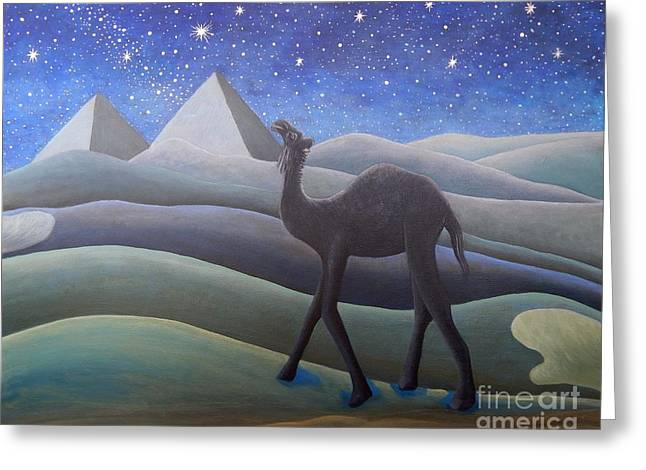 Stargazer On The Dunes Greeting Card by Caroline Street