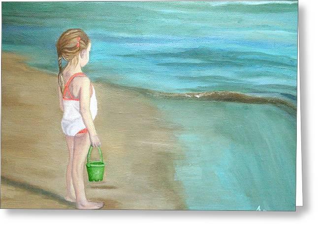 Staring At The Sea Greeting Card