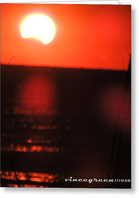 Staring Into A Star Eclipsed Greeting Card