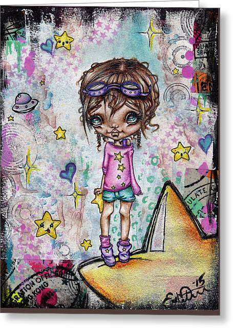 Starla Jones The 3rd Intergalactic Star Jumper Greeting Card by Oddball Art Co by Lizzy Love