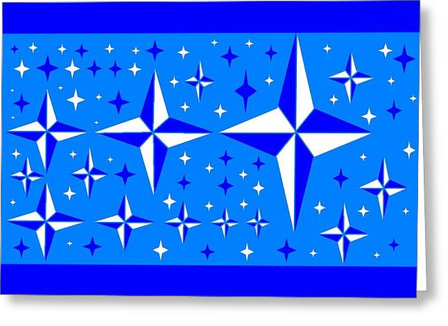 Starlight 9 Greeting Card by Linda Velasquez