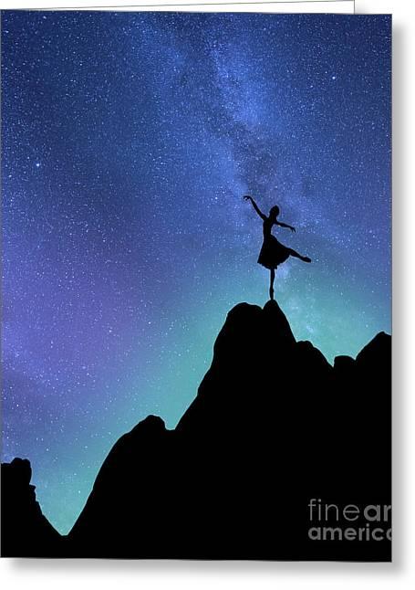 Starlight Ballerina Greeting Card