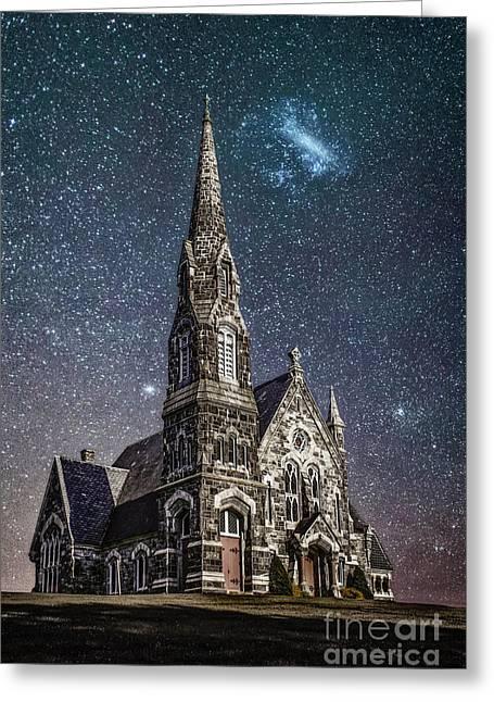 Starlight Greeting Card by Evelina Kremsdorf