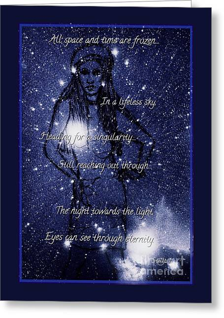 Starlight In Space And Time 5 Greeting Card by Joan-Violet Stretch