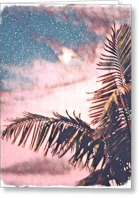 Starlight Palm Greeting Card