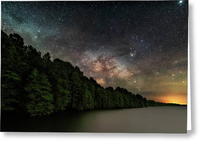 Starlight Swimming Greeting Card