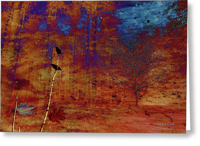 Starlings In The Woods Greeting Card
