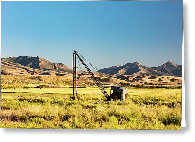 Starr Valley Crane Greeting Card by Todd Klassy
