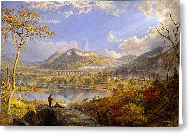 Starrucca Viaduct Pennsylvania Greeting Card by Jasper Francis Cropsey