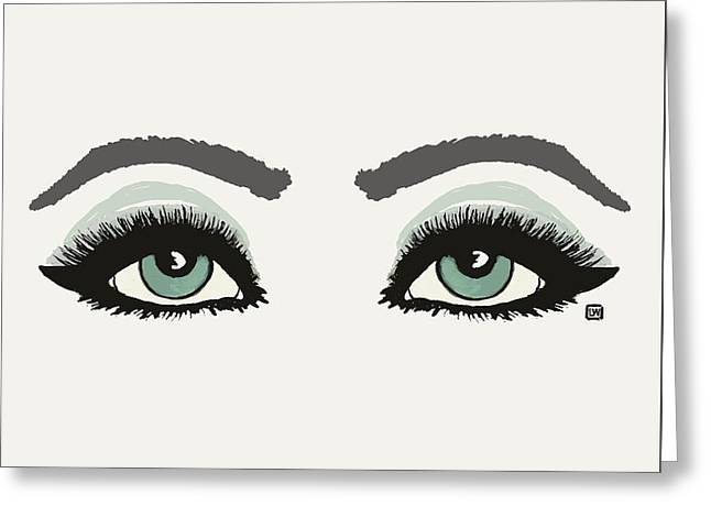 Greeting Card featuring the painting Starry Eyed by Lisa Weedn