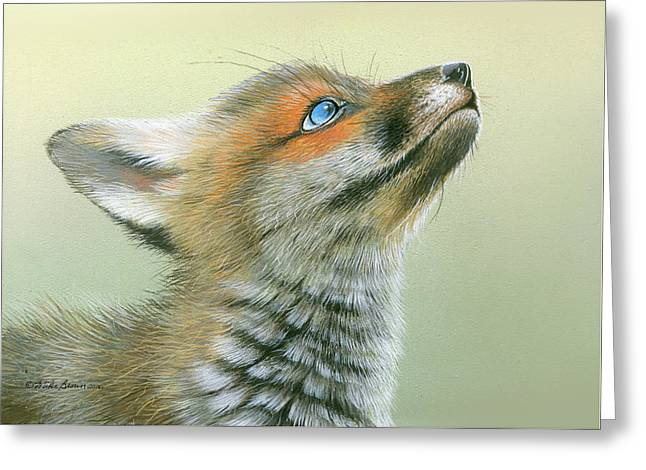 Starry Eyes Greeting Card by Mike Brown