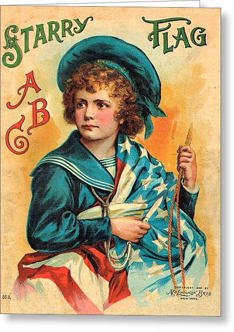 Starry Flag Cover Abc Book Greeting Card by Reynold Jay