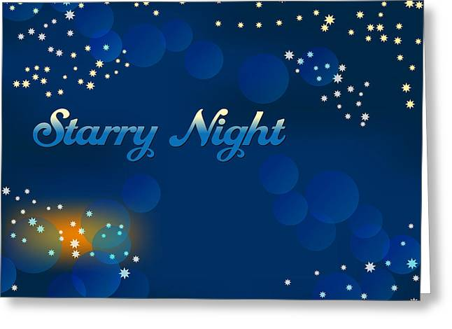 Starry Night Greeting Card by Alain De Maximy
