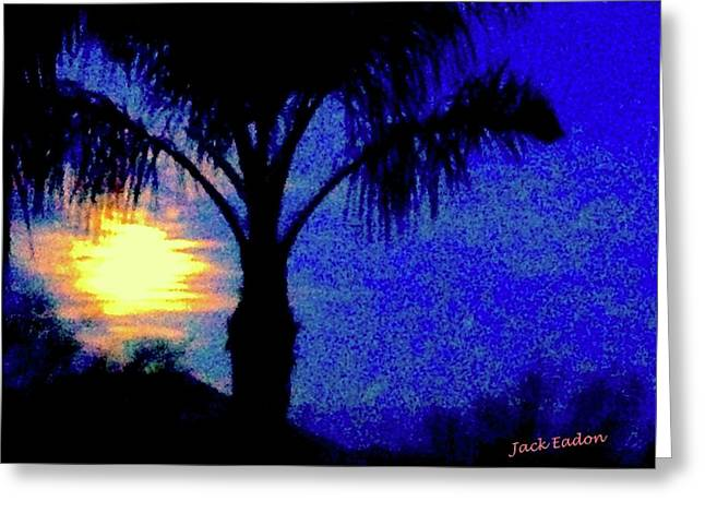 Starry Night At Casapaz Greeting Card by Jack Eadon