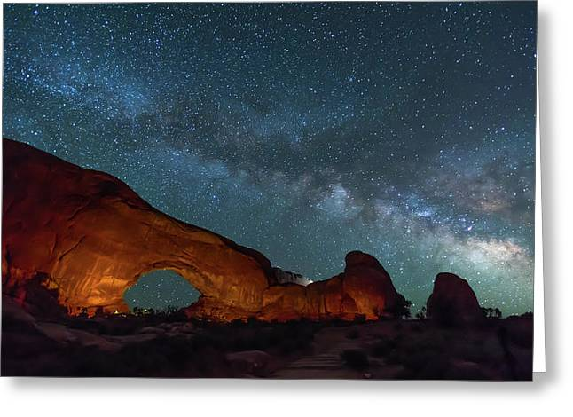 Starry Night At North Window Rock Greeting Card