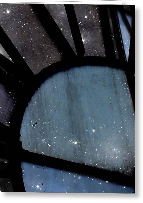Starry Night - Clock Tower Greeting Card