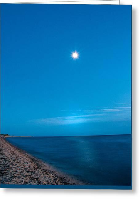 Starry Night Herring Cove Beach Greeting Card by Linda Pulvermacher