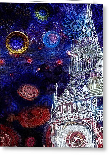 Starry Night In London Greeting Card