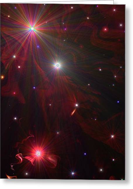 Starry Night Greeting Card by Michelle  BarlondSmith