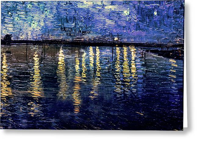 Starry Night Over Summit Lake Greeting Card by Mark Orr