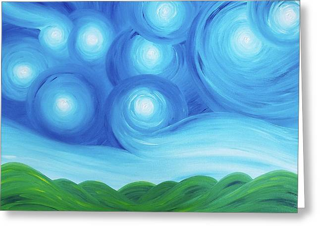 Starry Night Over The Hills  Greeting Card by Daniel Lafferty