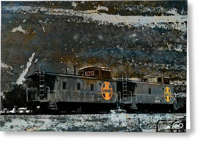 Caboose Digital Greeting Cards - Starry Night Greeting Card by Robert Ball