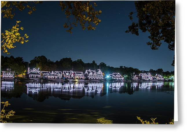 Starry Skies Over Boathouse Row Greeting Card