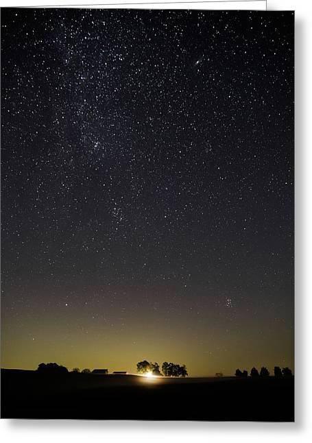 Starry Sky Over Virginia Farm Greeting Card