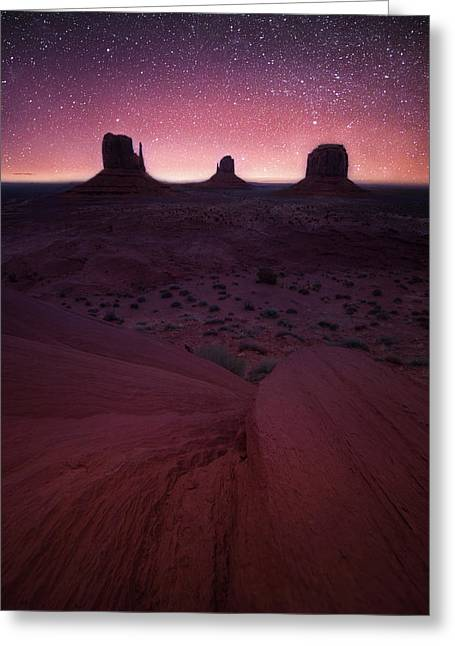 Greeting Card featuring the photograph Starry Splendor // Monument Valley // Arizona   by Nicholas Parker