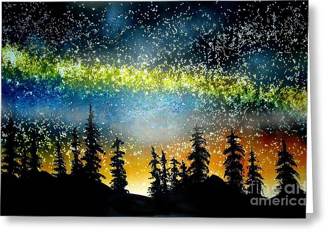 Starry Starry Night Greeting Card by Ed Moore