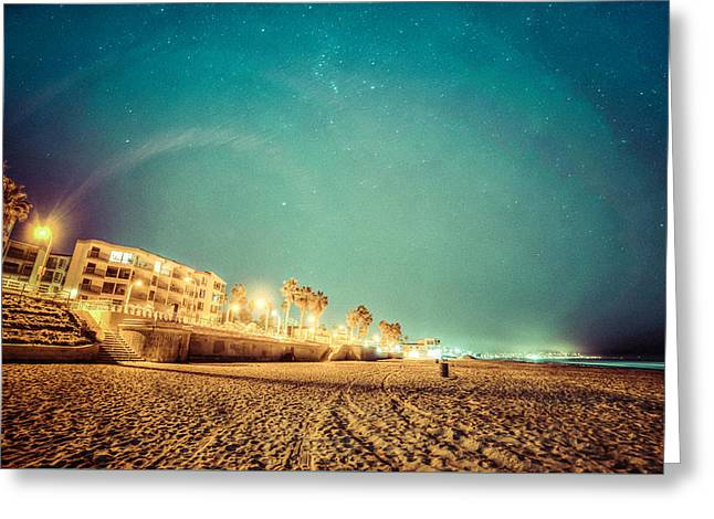 Greeting Card featuring the photograph Starry Starry Pacific Beach by T Brian Jones