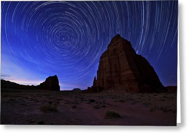 Stars Above The Moon Greeting Card by Chad Dutson