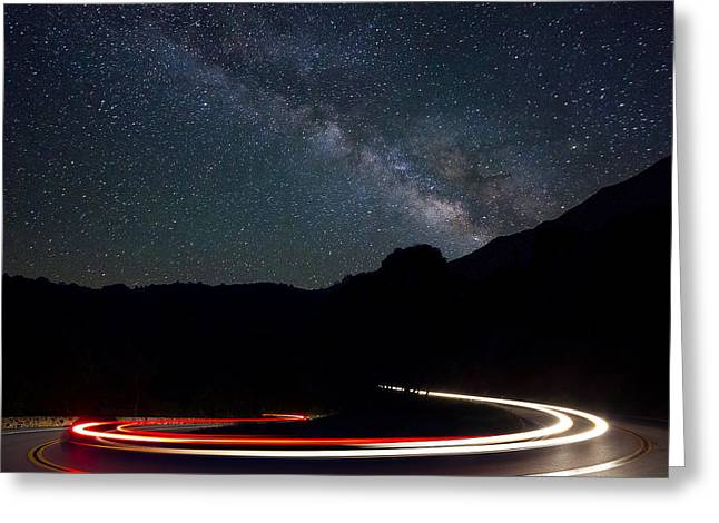 Stars And Cars Greeting Card by Dave Johns