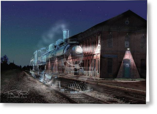 Stars And Station Lights Greeting Card by Tom Straub