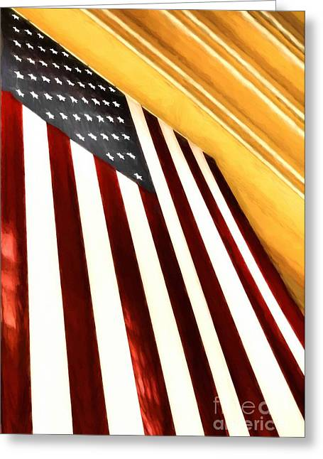 Stars And Stripes At Union Terminal Greeting Card