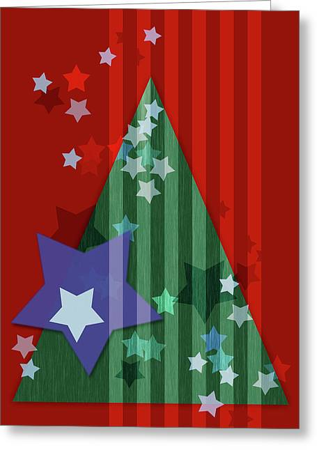 Stars And Stripes - Christmas Edition Greeting Card