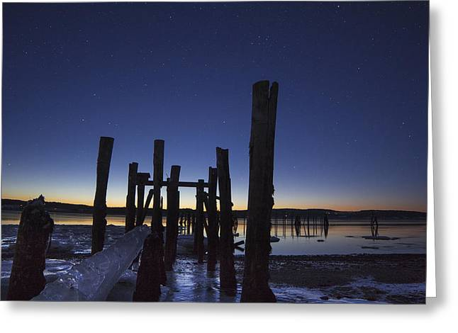 Stars At Sandy Point Sunrise  Greeting Card