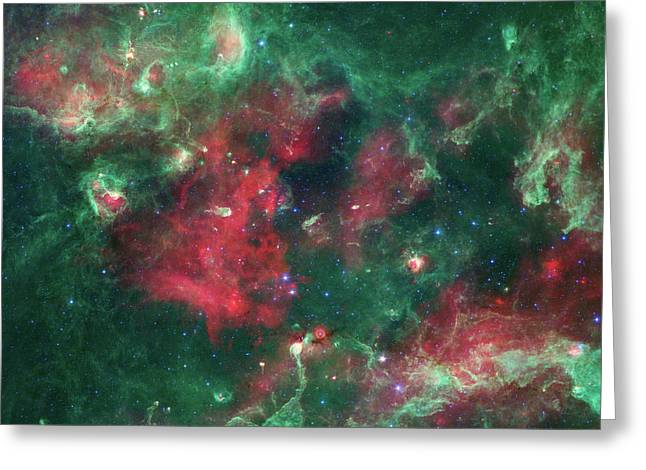 Greeting Card featuring the photograph Stars Brewing In Cygnus X by Nasa