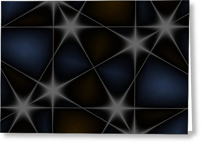 Stars Greeting Card by Contemporary Art