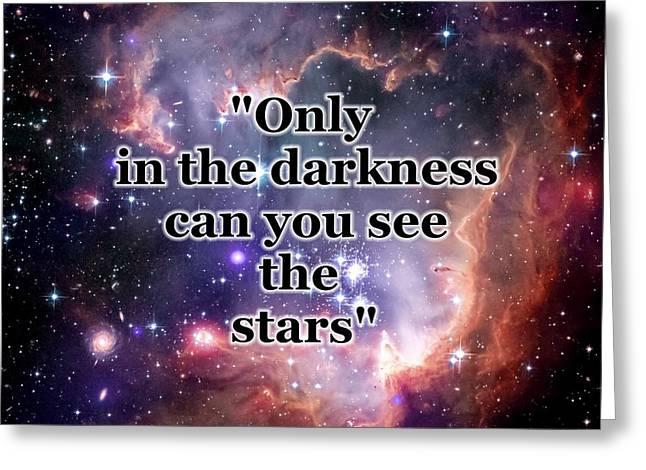 Stars In The Darkness Greeting Card by Anastasiya Malakhova