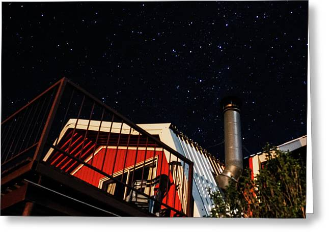 Stars Over Gila Cottage Greeting Card