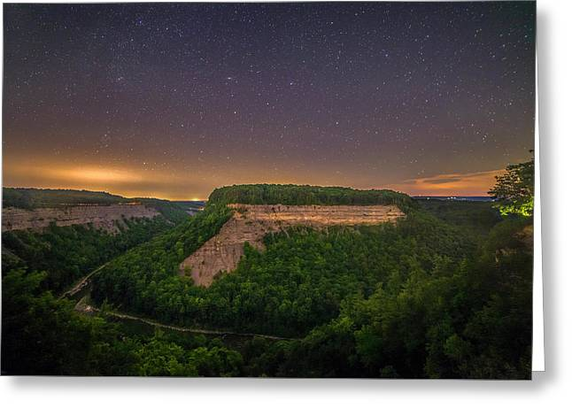 Greeting Card featuring the photograph Stars Over Great Bend by Mark Papke