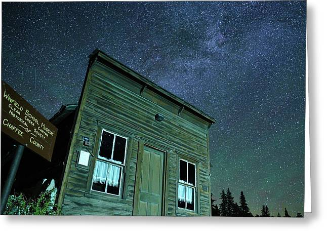 Stars Over Winfield Ghost Town Greeting Card by Daniel Lowe