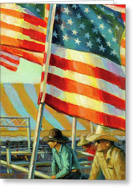 Stars, Stripes, And Cowboys Forever Greeting Card