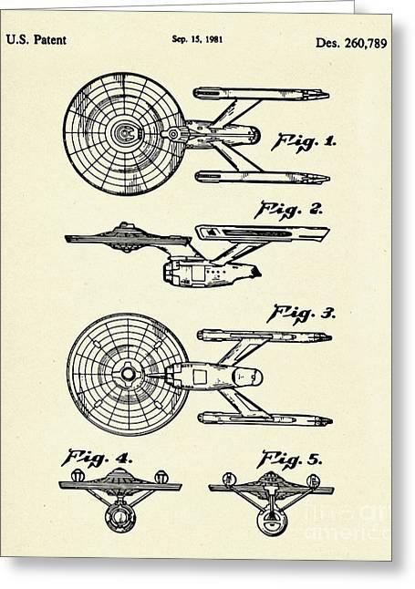 Starship Enterprise Star Trek-1981 Greeting Card by Pablo Romero