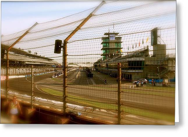 Start Finish Indianapolis Motor Speedway Greeting Card