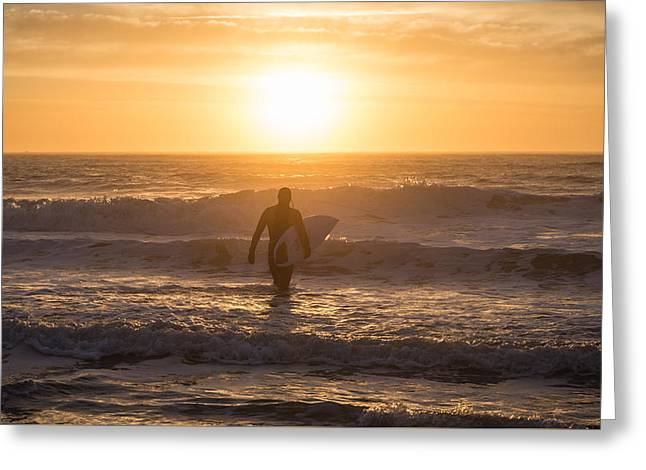 Start The Day Surfing Greeting Card