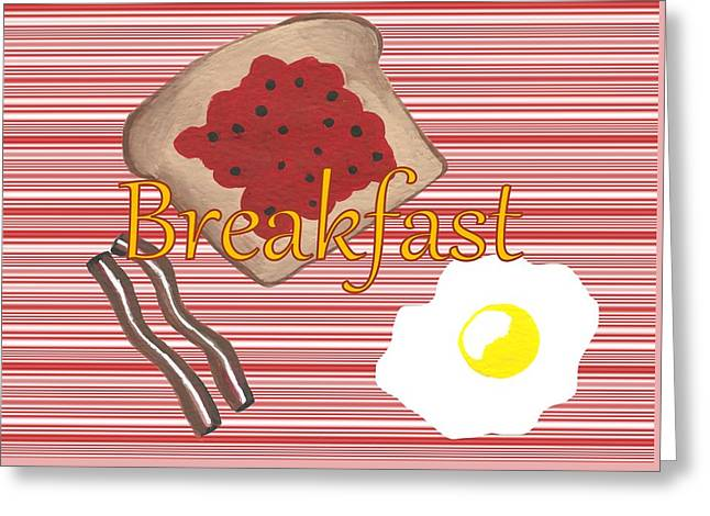 Start Your Day With Breakfast Greeting Card